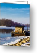 Shack Greeting Cards - Closed for the Season Greeting Card by Christi Kraft