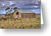 Shed Greeting Cards - Closed up Shop Greeting Card by Mark Richards
