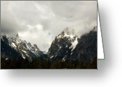 Snow Capped Digital Art Greeting Cards - Closer Look Greeting Card by Amanda Kiplinger