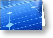 Rectangles Greeting Cards - Closeup of Solar Panels Greeting Card by Yali Shi