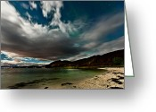Canon 5d Mk2 Greeting Cards - Cloud and Auroras Greeting Card by Frank Olsen