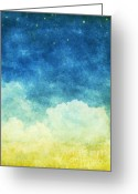 Chalk Pastels Greeting Cards - Cloud And Sky Greeting Card by Setsiri Silapasuwanchai