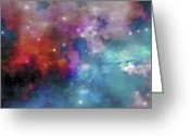Twinkle Greeting Cards - Cloud And Star Remnants Greeting Card by Corey Ford