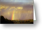 Tulle Greeting Cards - Cloud Burst Greeting Card by Rod Jones