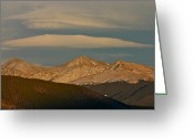 Bob Berwyn Greeting Cards - Cloud Cap Greeting Card by Bob Berwyn