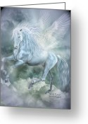 Clouds Mixed Media Greeting Cards - Cloud Dancer Greeting Card by Carol Cavalaris