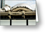 Rink Greeting Cards - Cloud Gate - 2 Greeting Card by Ely Arsha