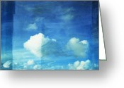 Burnt Greeting Cards - Cloud Painting Greeting Card by Setsiri Silapasuwanchai