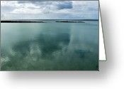 Canary Greeting Cards - Cloud Reflections Greeting Card by Kimberly Jansen Photography