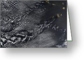 Marks Greeting Cards - Cloud Vortices Over The Cape Verde Greeting Card by Stocktrek Images