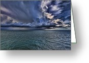 Cumulus Greeting Cards - Cloudburst Greeting Card by Douglas Barnard