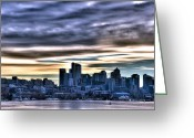Lake Union Greeting Cards - Clouds in the Sky Greeting Card by Spencer McDonald