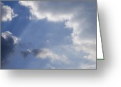 Mood Greeting Cards - Clouds Greeting Card by Lyubomir Kanelov