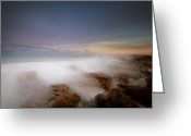 Extended Exposure Greeting Cards - Clouds On The Rocks Greeting Card by Joseph Deats