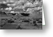 Black Mesa Greeting Cards - Clouds Over Cedar Mesa Greeting Card by Troy Montemayor