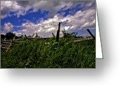 Battleground Greeting Cards - Clouds Over Gettysburg Greeting Card by Madeline Ellis