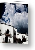 Terraces Greeting Cards - Clouds Over  Jubrique Greeting Card by Piet Scholten