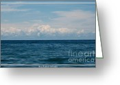 Sandstone Bluffs Greeting Cards - Clouds over Lake Ontario on a Summers day Greeting Card by Rose Santuci-Sofranko