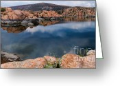 Watson Lake Greeting Cards - Clouds over Watson Lake Greeting Card by Dave Dilli