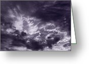 Dramatic Light Greeting Cards - Clouds Greeting Card by Steve Gadomski