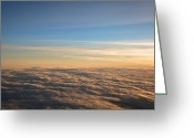 Above The Clouds Greeting Cards - Cloudscape From a 757 Greeting Card by David Patterson