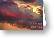 Sunset Wall Art Greeting Cards - Cloudscape Sunset 46 Greeting Card by James Bo Insogna