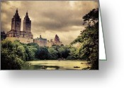 Picoftheday Greeting Cards - Cloudy Central Park. #nyc #centralpark Greeting Card by Luke Kingma
