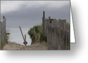 Nauset Beach Greeting Cards - Cloudy Morning Greeting Card by Michael Friedman