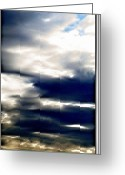 Grey Clouds Digital Art Greeting Cards - Cloudy Sunrise Greeting Card by Danielle  Parent