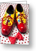 Goofy Greeting Cards - Clown shoes  Greeting Card by Garry Gay