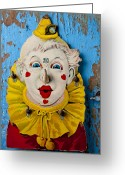 Face Greeting Cards - Clown toy game Greeting Card by Garry Gay