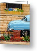 David Kyte Greeting Cards - Clunker in the Garden Greeting Card by David Kyte