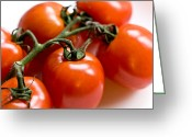 Expressive Photo Greeting Cards - Cluster of Tomatoes Greeting Card by Hakon Soreide