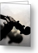 Violinist Greeting Cards - Coalescence  Greeting Card by Steven  Digman