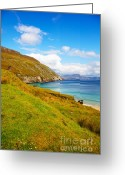 Colour Image Greeting Cards - Coast at Keem Bay on Achill Island Greeting Card by Gabriela Insuratelu