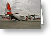 C130 Greeting Cards - Coast Guard Alaska Greeting Card by Rick  Monyahan