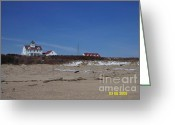 Cape Cod Mass Drawings Greeting Cards - Coast Guard Beach Greeting Card by Bill Hubbard