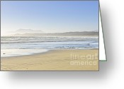 Misty Greeting Cards - Coast of Pacific ocean on Vancouver Island Greeting Card by Elena Elisseeva