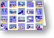 Weathervane Greeting Cards - Coastal Magic Greeting Card by Jacqueline Walden