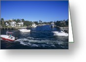 Intercoastal Greeting Cards - Coastal Waterway Greeting Card by Alan Sirulnikoff