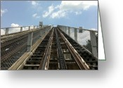 Wooden Coaster Greeting Cards - Coaster to Heaven Greeting Card by Michael Jalbert