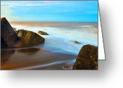 Seaview Greeting Cards - Coastline Greeting Card by Svetlana Sewell