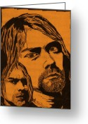 Nirvana Mixed Media Greeting Cards - Cobain Greeting Card by Jason Kasper