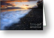 Lahaina Greeting Cards - Cobblestone Sunset Greeting Card by Mike  Dawson