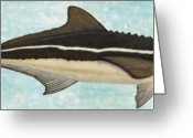 Marine Animal Greeting Cards - Cobia Greeting Card by JoAnn Wheeler