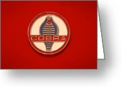 Street Rod Greeting Cards - COBRA Emblem Greeting Card by Mike McGlothlen