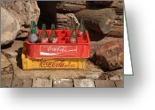 Americana Greeting Cards - Coca Cola Americana Greeting Card by Frank Romeo