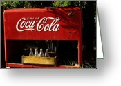 Coke Greeting Cards - Coca-Cola Greeting Card by Carol Milisen