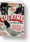 Narcotic Greeting Cards - COCAINE MOVIE POSTER, 1940s Greeting Card by Granger