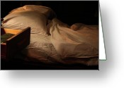 Cocaine Greeting Cards - Cocaine. Stage IV. Empty Bed Greeting Card by Viktor Savchenko